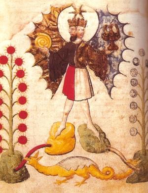 Rebis, from 'Buch der heiligen Dreifaltigkeit', Bayerische Staatsbibliothek, Munich (15th century)
